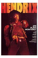 Jimi Plays Monterey Wall Poster
