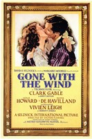 Gone with the Wind Framed Kissing Movie Advetisement Wall Poster