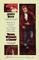 Rebel Without a Cause Mutliple Shots Yellow Wall Poster
