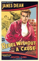 Rebel Without a Cause James Dean Framed Print