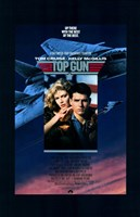 Top Gun Fighter Jet & Tom Cruise Framed Print