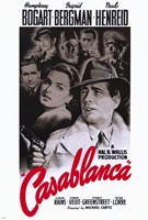 Casablanca Black and Red Framed Print