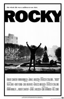 Rocky Black and White Framed Print