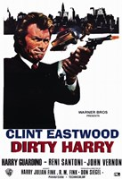 Dirty Harry Clint Eastwood Wall Poster