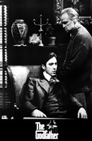 The Godfather B&W Scene Framed Print