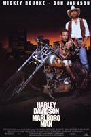 Harley Davidson and Marlboro Man Don Johnson Framed Print