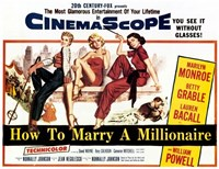 How to Marry a Millionaire, c.1953 - style A Fine Art Print
