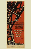 Bridge on the River Kwai Tall Tan Background Wall Poster