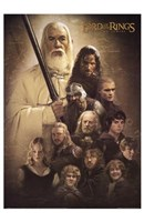Lord of the Rings: the Two Towers Cast Fine Art Print
