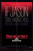 Friday the 13Th Part 5 New Beginning Wall Poster