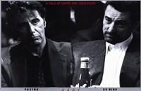 Heat Pacino De Niro Framed Print