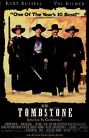 Tombstone Black Background Wall Poster