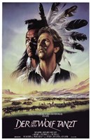 Dances with Wolves Native American Framed Print