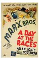 A Day At the Races Wall Poster