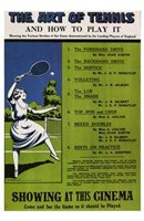 The Art of Tennis and How to Play It Wall Poster