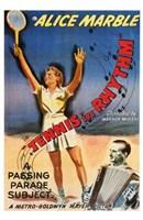 Tennis in Rhythm Wall Poster