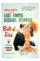 Ball of Fire Wall Poster
