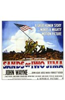 Sands of Iwo Jima - American flag (square) Wall Poster