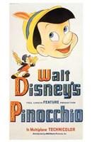 Pinocchio Jiminy Cricket Framed Print