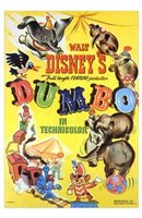 Dumbo Cartoon Framed Print