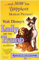 Lady and the Tramp Happiest Motion Picture Framed Print