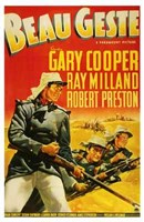 Beau Geste Gary Cooper Wall Poster