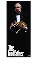 The Godfather with Cat Wall Poster