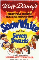 Snow White and the Seven Dwarfs 1st Full Length Wall Poster
