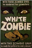 White Zombie Wall Poster