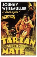 Tarzan and His Mate, c.1934 - style C Framed Print