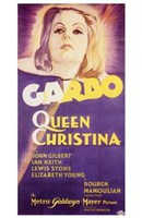 Queen Christina Garbo Wall Poster