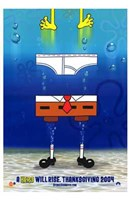 Spongebob Squarepants Movie Pants Wall Poster