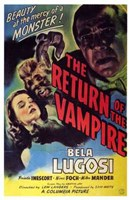 The Return of the Vampire Wall Poster