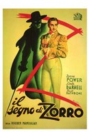 The Mark of Zorro (spanish) Wall Poster