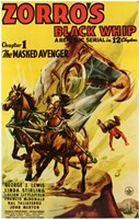 Zorro's Black Whip Chapter 1 Wall Poster