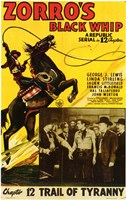 Zorro's Black Whip Chapter 12 Wall Poster