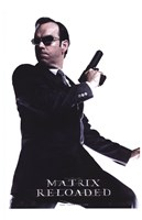 The Matrix Reloaded Hugo Weaving as Agent Smith Framed Print