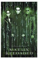 The Matrix Reloaded Code Wall Poster