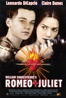 William Shakespeare's Romeo Juliet - movie poster Framed Print