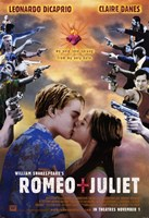 William Shakespeare's Romeo Juliet Kiss Wall Poster