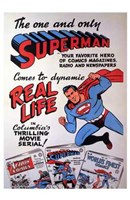 Superman Coming to the Movies Wall Poster