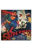 Superman Vintage Comic Book Wall Poster