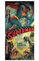 Superman Comic Wall Poster