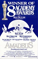 Amadeus 8  Academy Awards Wall Poster