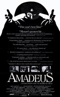 Amadeus Black and White Wall Poster