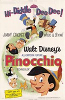 Pinocchio Hi-Diddle Dee Dee! Wall Poster