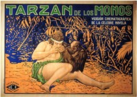 Tarzan of the Apes, c.1917 (Spanish) - style A Wall Poster