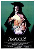 Amadeus Green with Cast Wall Poster