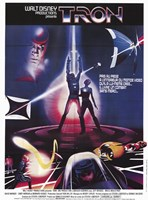 Tron Silhouette Wall Poster