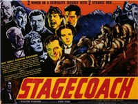 Stagecoach 2 Women 7 Strange Men Wall Poster